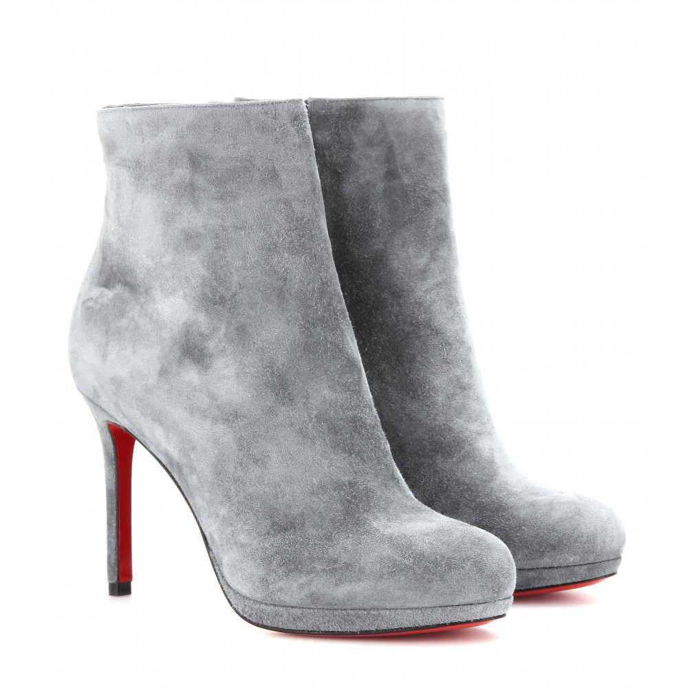 c626e7ab444f shopping christian louboutin boots gena bootie 740b4 b8a00  aliexpress christian  louboutin bootylili 100 suede ankle boots in gray lyst 5b41a ce3be