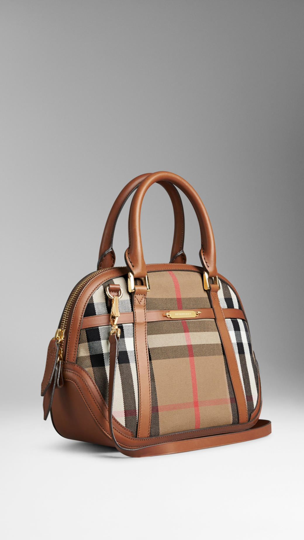 fe8e862228e6 Lyst - Burberry The Small Orchard In House Check in Brown