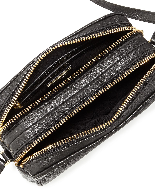 Lyst - Tory Burch Robinson Double-zip Shrunken Leather Crossbody Bag ... 6fb0217a78193