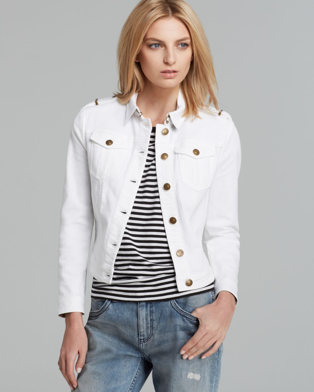 Lyst Burberry Brit Brierly Jean Jacket In White