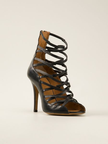 Isabel Marant Paw Sandal in Black