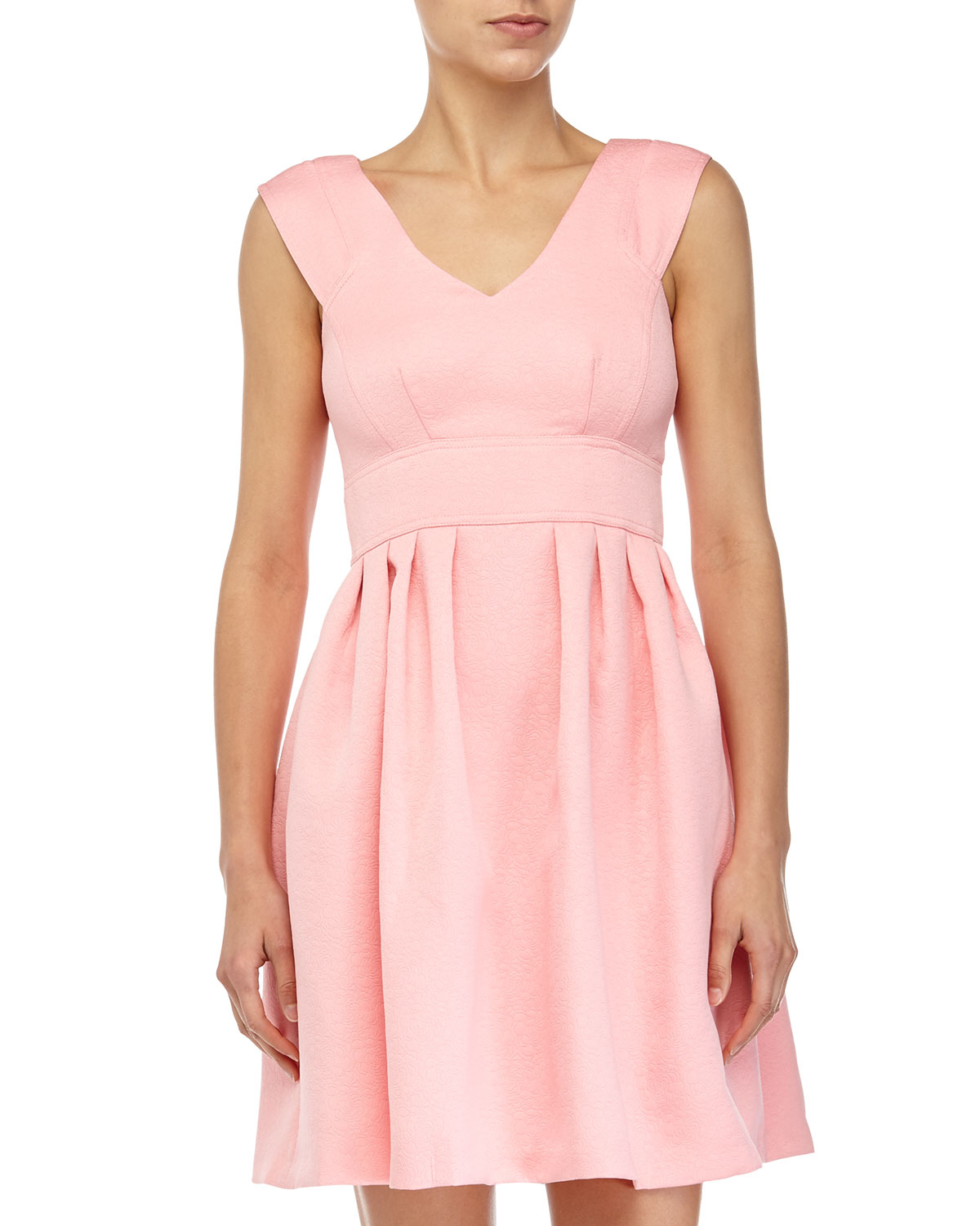 f73f562ed4fbc Betsey Johnson Rose-jacquard Fit-and-flare Dress in Pink - Lyst