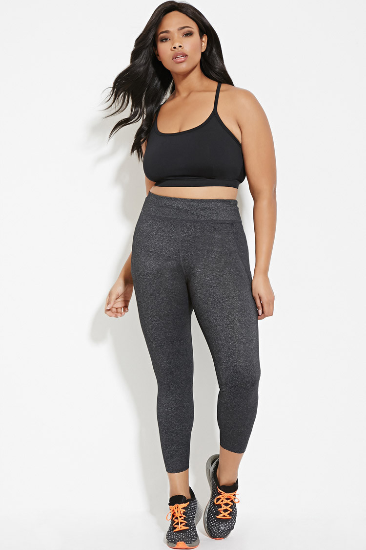 Forever 21 Plus Size Athletic Leggings in Gray | Lyst