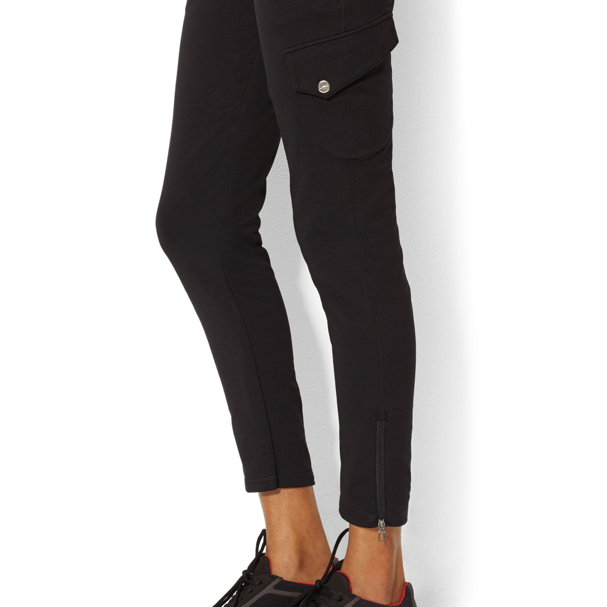 This black denim pant has a tapered 5 pocket construction with an inside zip ankle detail. It looks great stacked with a high top sneaker or your favorite boot/5(4).
