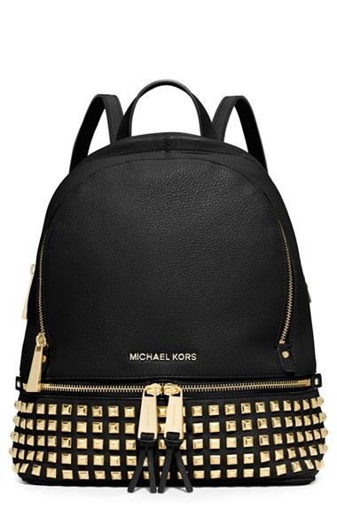 Michael Michael Kors Small Rhea Studded Backpack In
