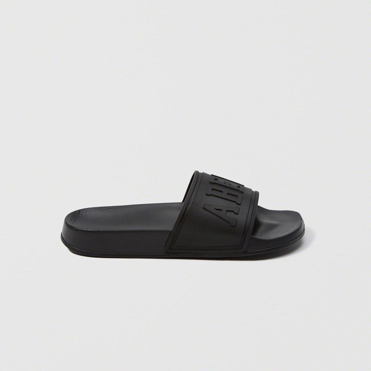 474a74b78 Lyst - Abercrombie   Fitch Athletic Slide Sandals in Black