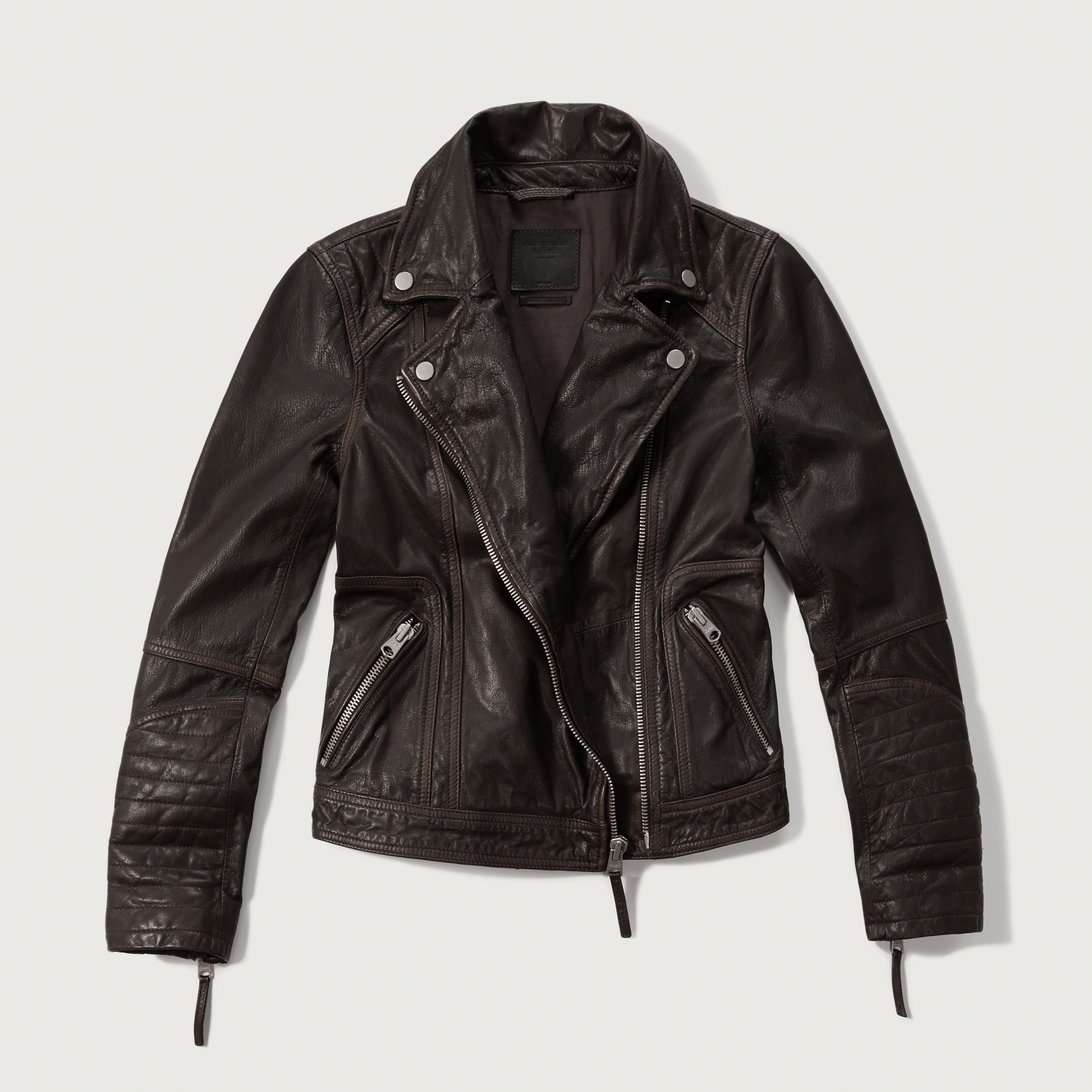 Abercrombie Fitch Accessories Abercrombie Fitch Womens: Abercrombie & Fitch Genuine Leather Biker Jacket In