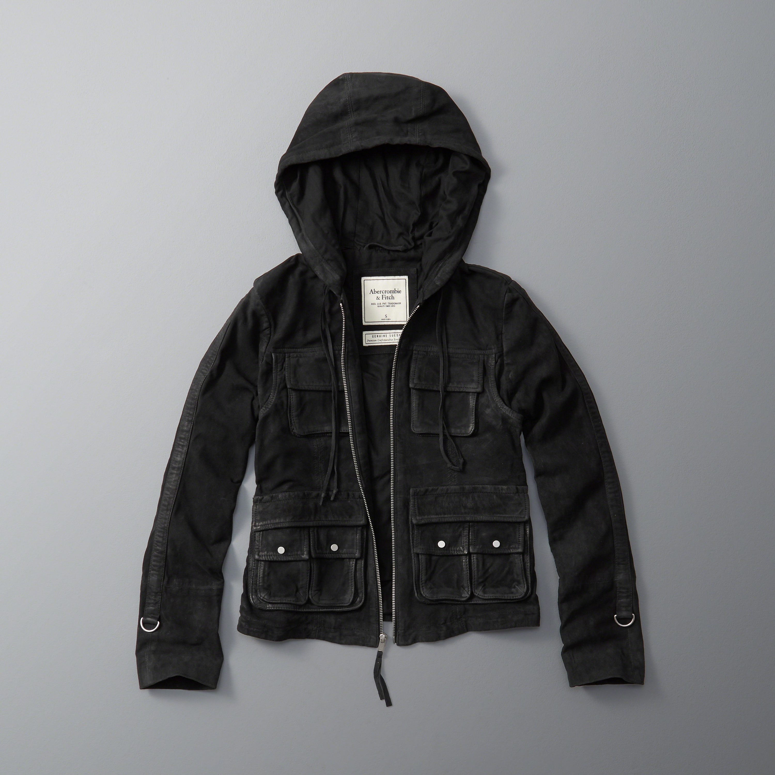 Abercrombie Fitch Accessories Abercrombie Fitch Womens: Abercrombie & Fitch Suede Utility Jacket In Black