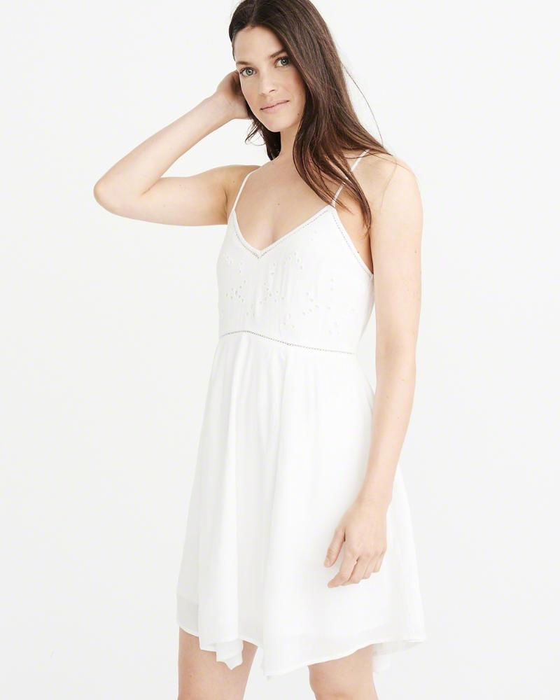 eae91c91be94 Lyst - Abercrombie & Fitch A&f Cutout Swing Dress in White