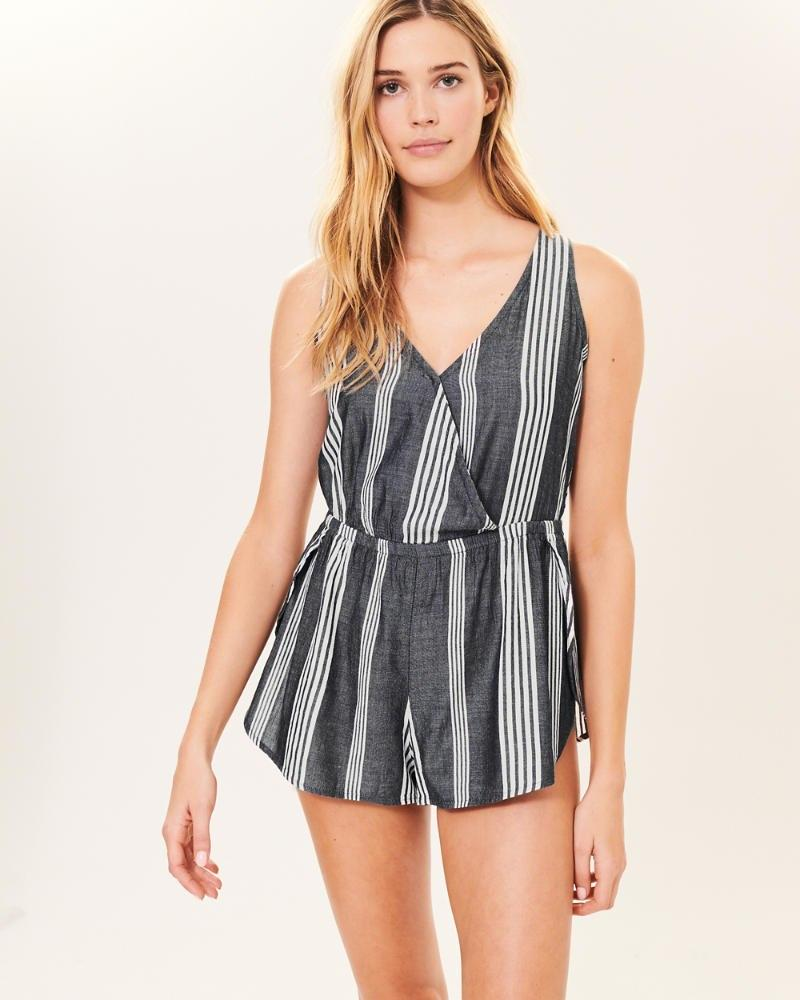 9340bc8695 Lyst - Abercrombie   Fitch Romper Cover Up in Blue