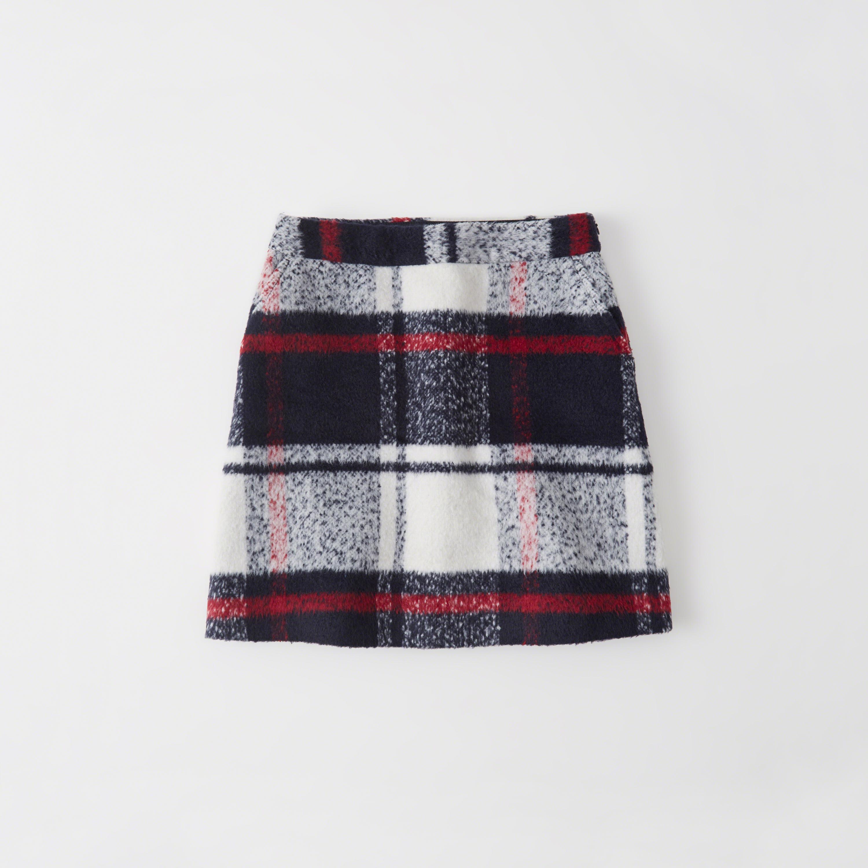 Lyst Abercrombie Amp Fitch Plaid A Line Mini Skirt