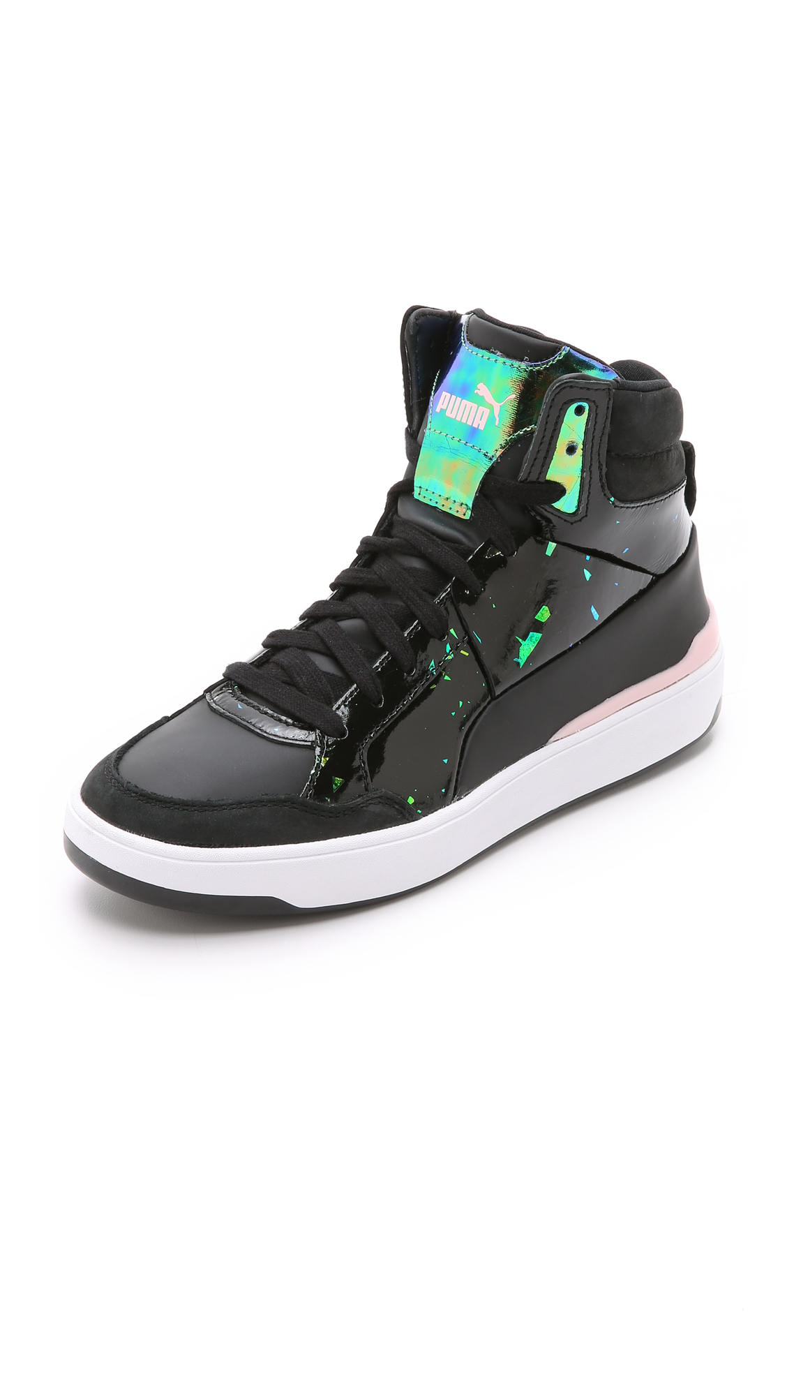 29a27392ed4f PUMA Mcq Brace Femme Mid Sneakers in Black - Lyst