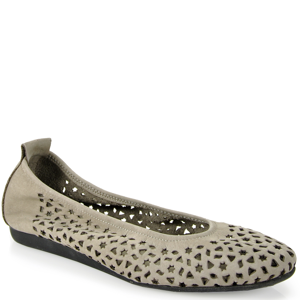 Arche Punched Ballet Flat in Gray