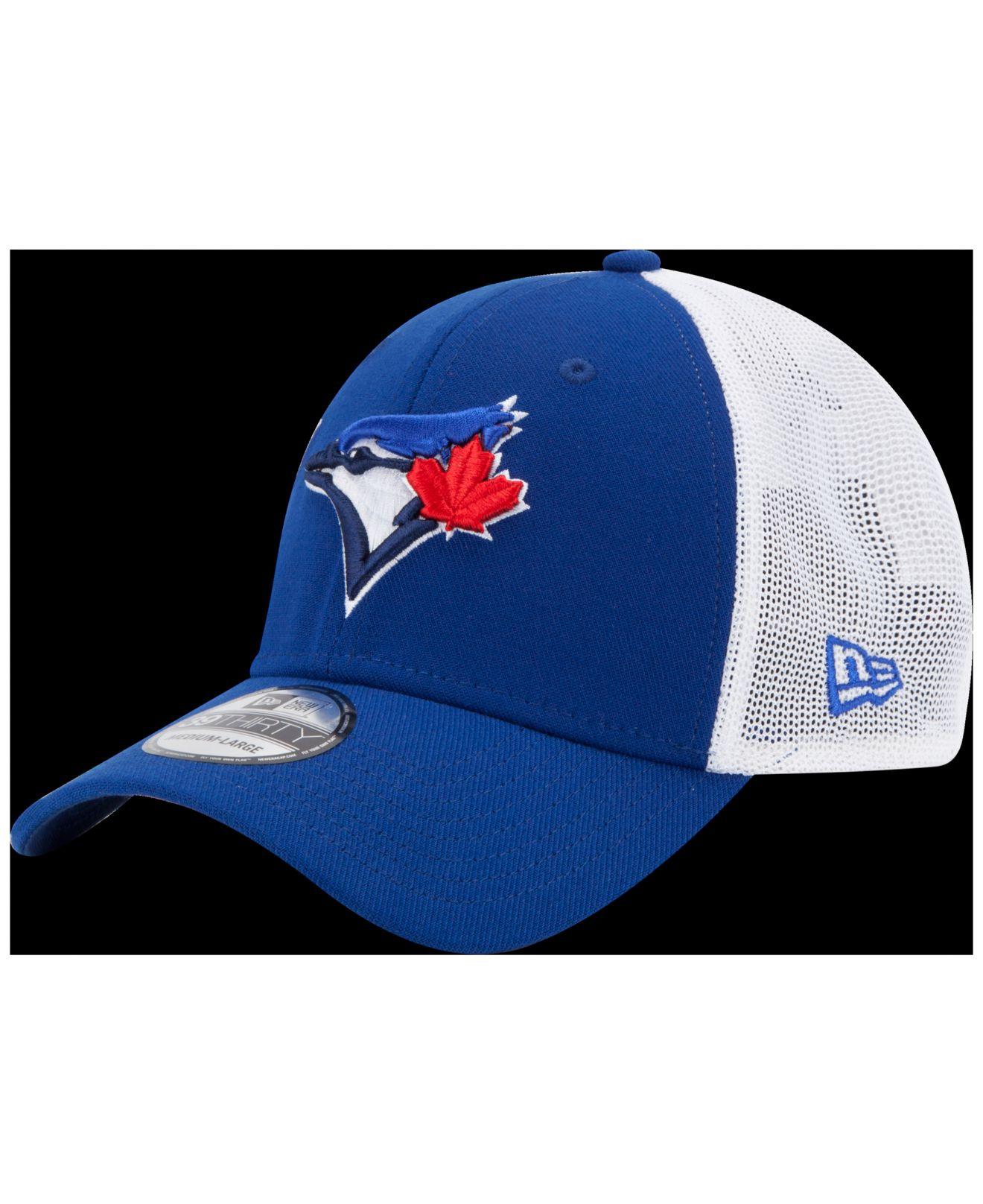 3cd65b57098 ... netherlands lyst ktz toronto blue jays double mesh 39thirty cap in blue  for men defec 09bf1