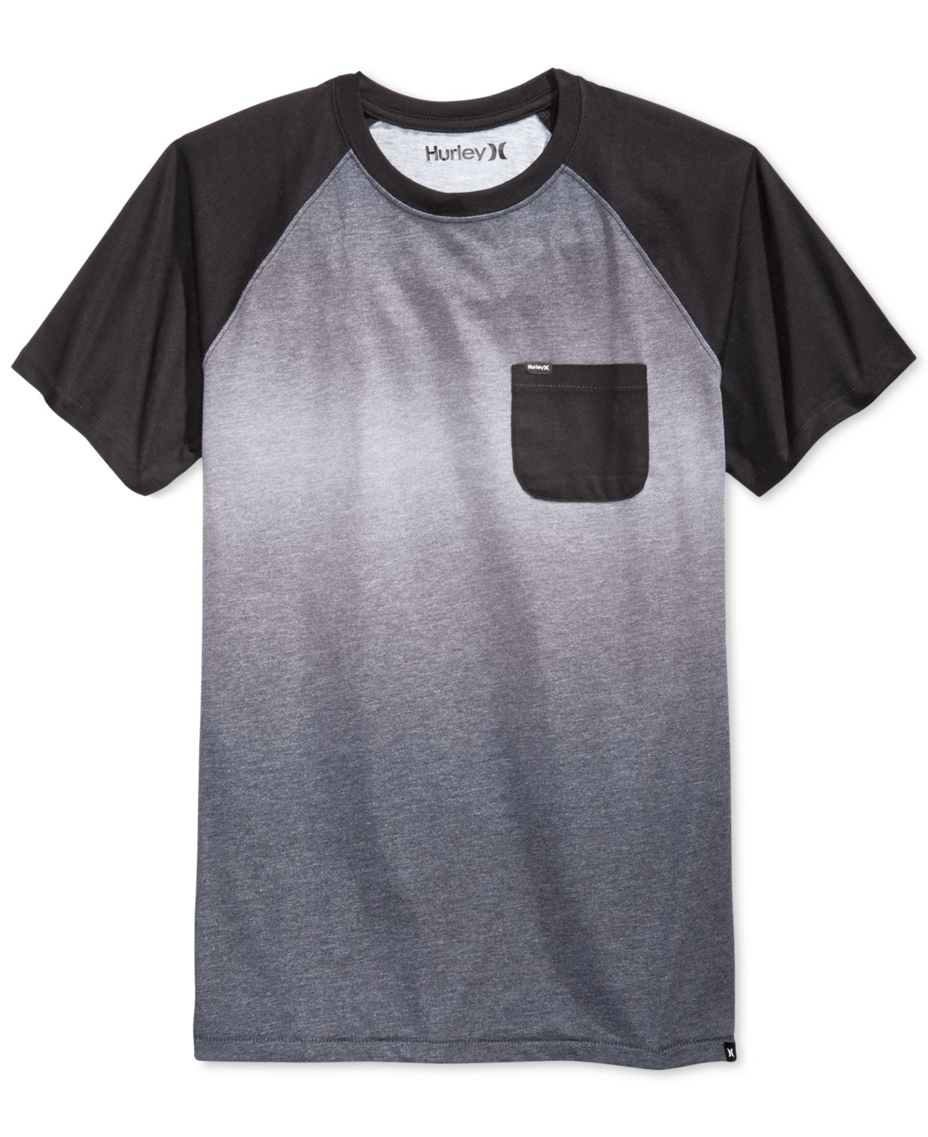 Hurley collective fade crew t shirt in black for men lyst for Faded color t shirts
