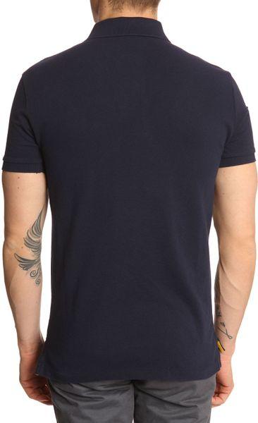 Polo ralph lauren jockey club blue slim fit polo shirt in for Ralph lauren polo club shirts