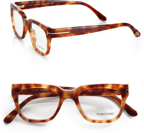 tom ford plastic optical frames in brown for