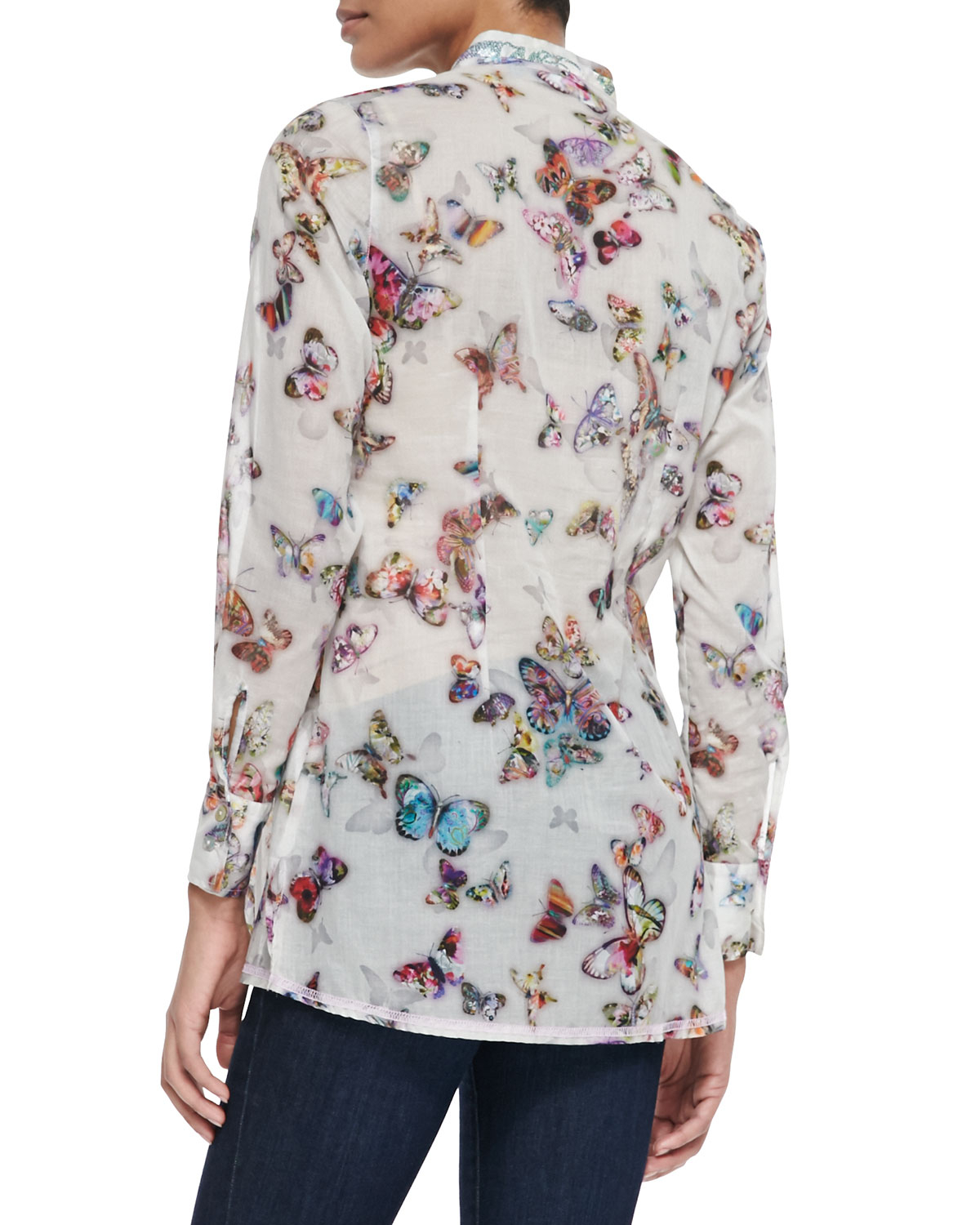 Georg Roth Los Angeles Long Sleeve Butterfly Print Blouse