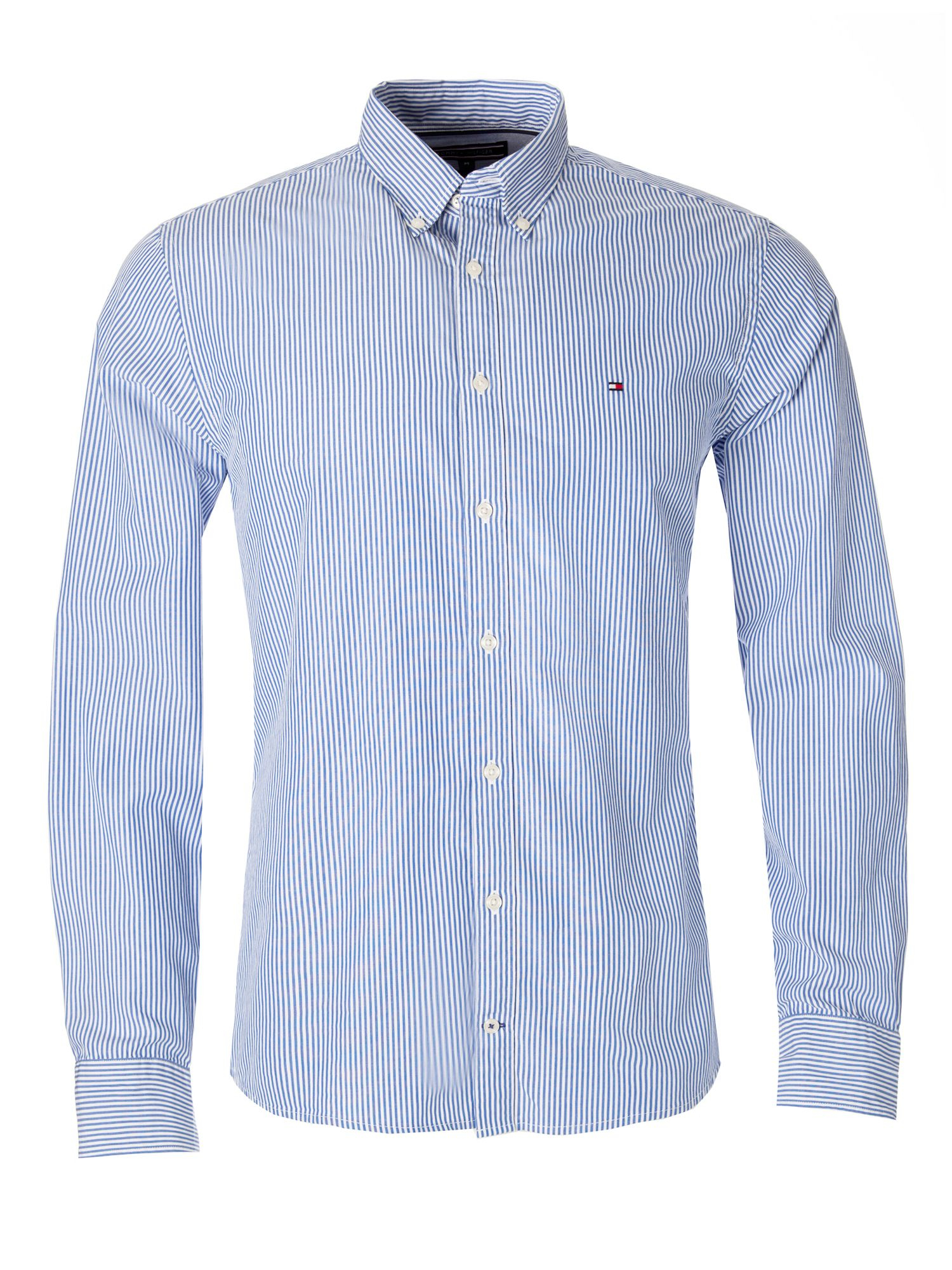 Tommy hilfiger ivy stripe shirt in blue for men lyst for Tommy hilfiger fitzgerald striped shirt