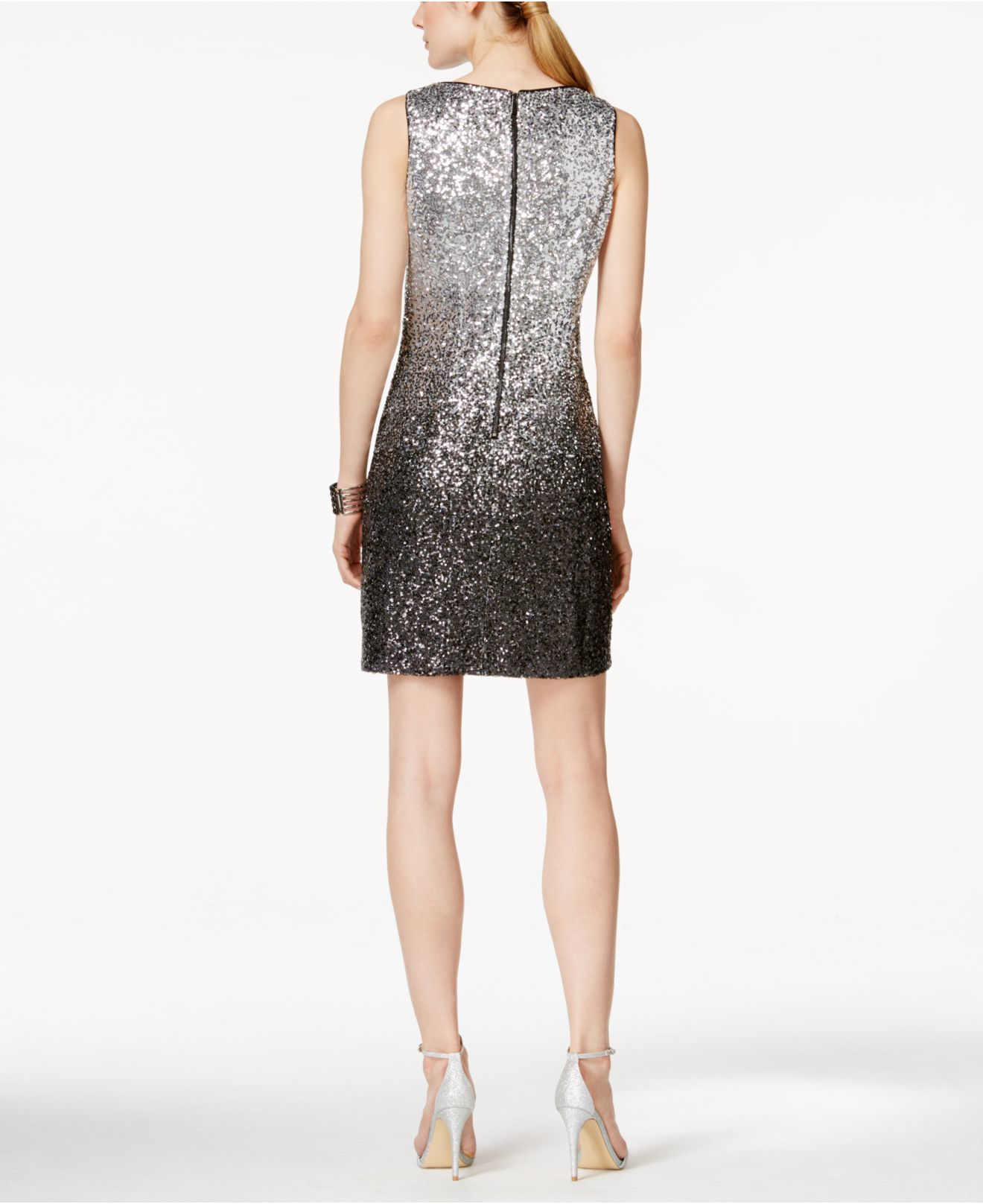 f775e17a Vince Camuto Sequined Ombré Sheath Dress in Metallic - Lyst