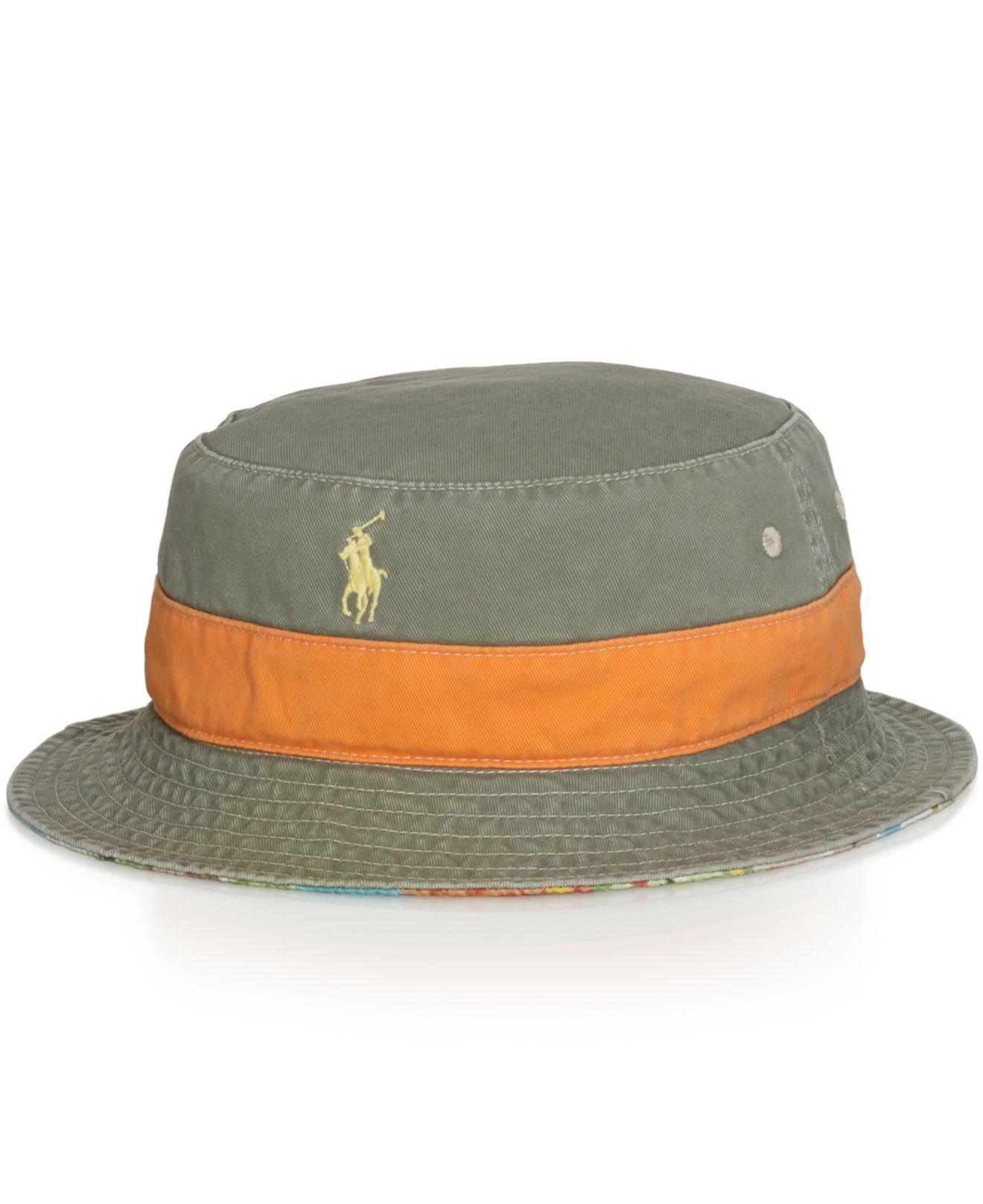 22399b425c328 Polo Ralph Lauren Reversible Bucket Hat for Men - Lyst
