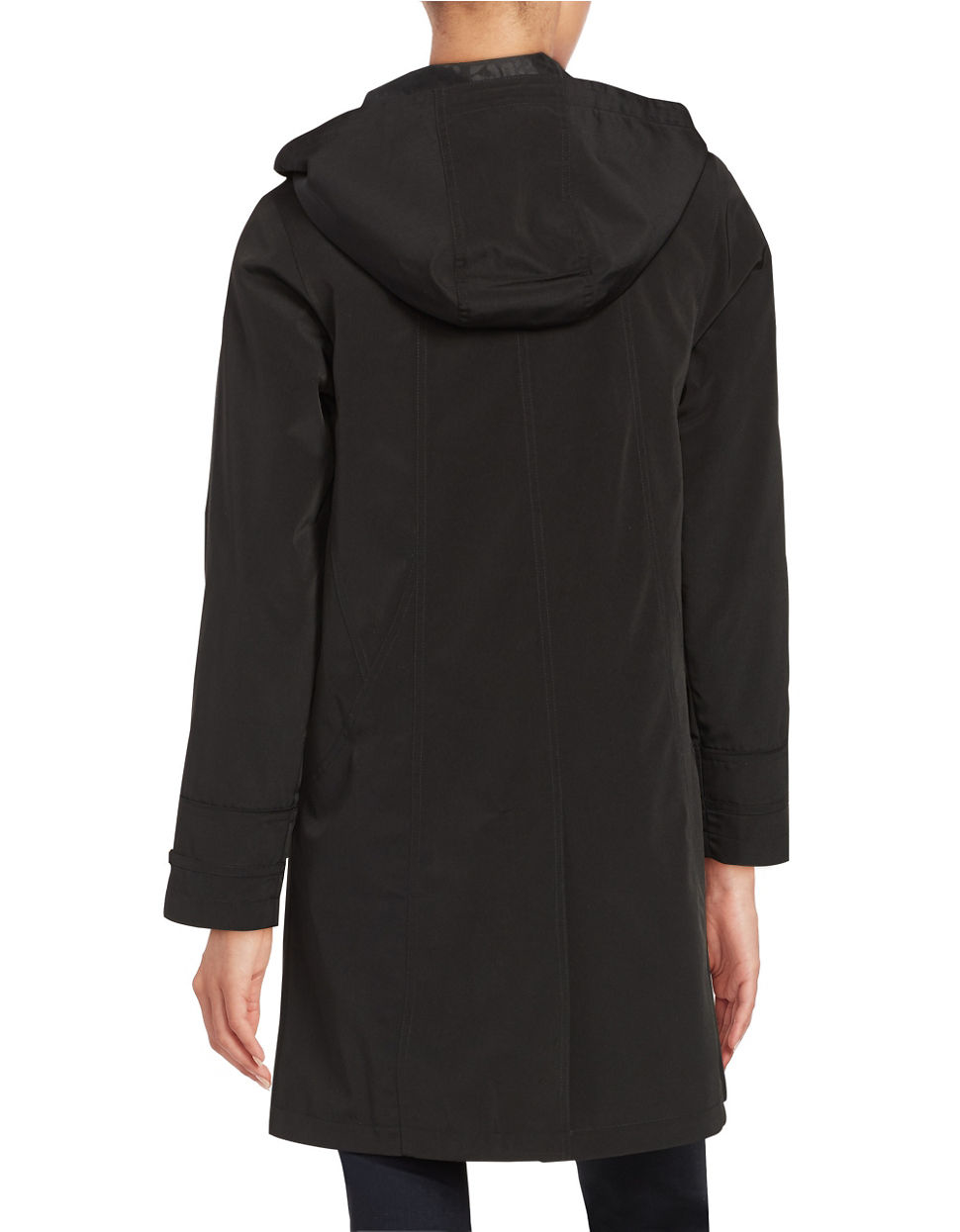 black trench coat with hood - photo #12