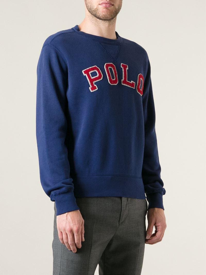 Ralph Suéter logo con Polo con Lauren parche de WYRqFYvf