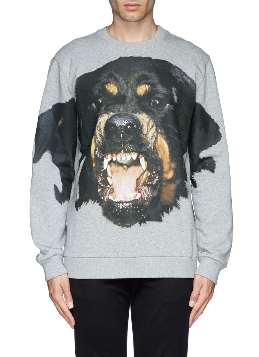 Givenchy Rottweiler Print Sweatshirt In Gray For Men Lyst