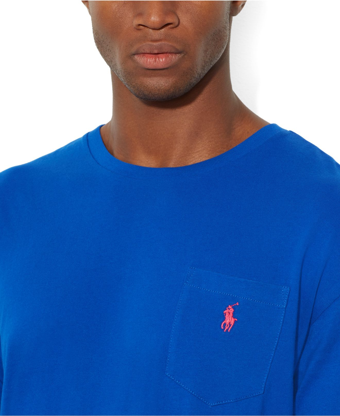 d0aef5970 Polo Ralph Lauren Classic-Fit Long-Sleeved Jersey Pocket Crew-Neck T ...