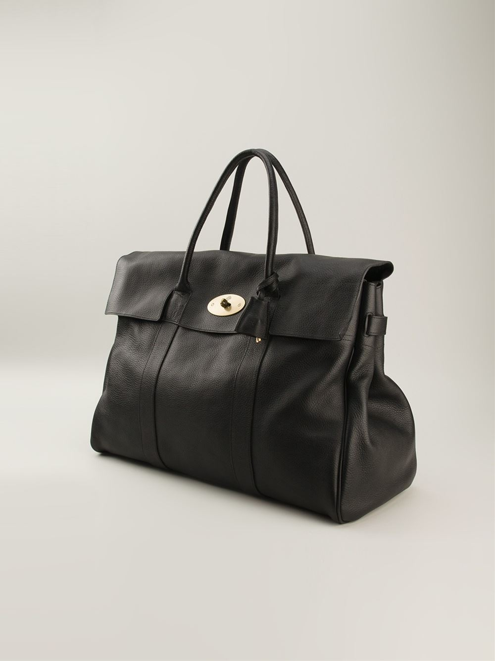 Lyst Mulberry Oversized Bayswater Bag In Black