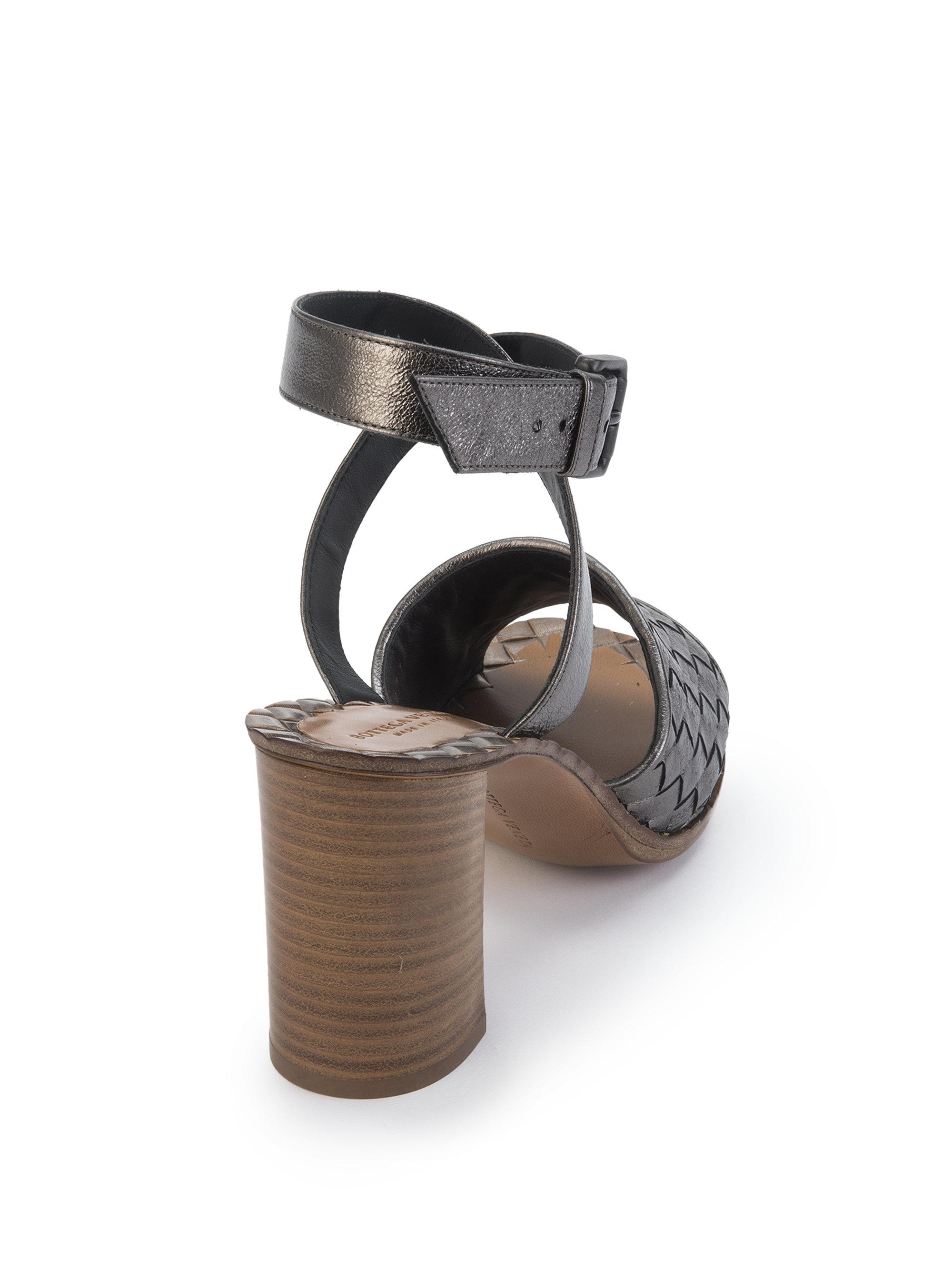 Lyst Bottega Veneta Metallic Leather Intrecciato Block