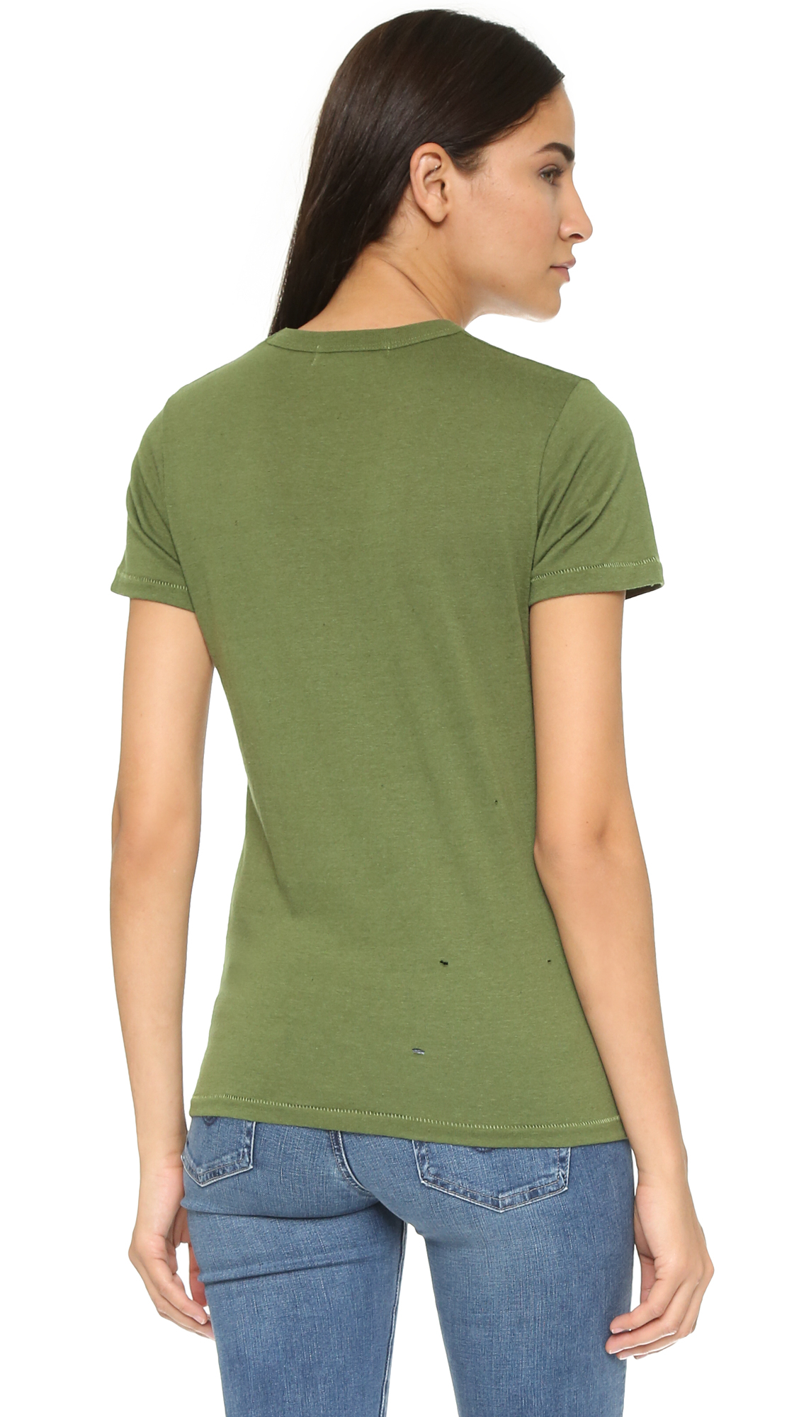 Lyst Chrldr Not Your Babe T Shirt Olive In Green