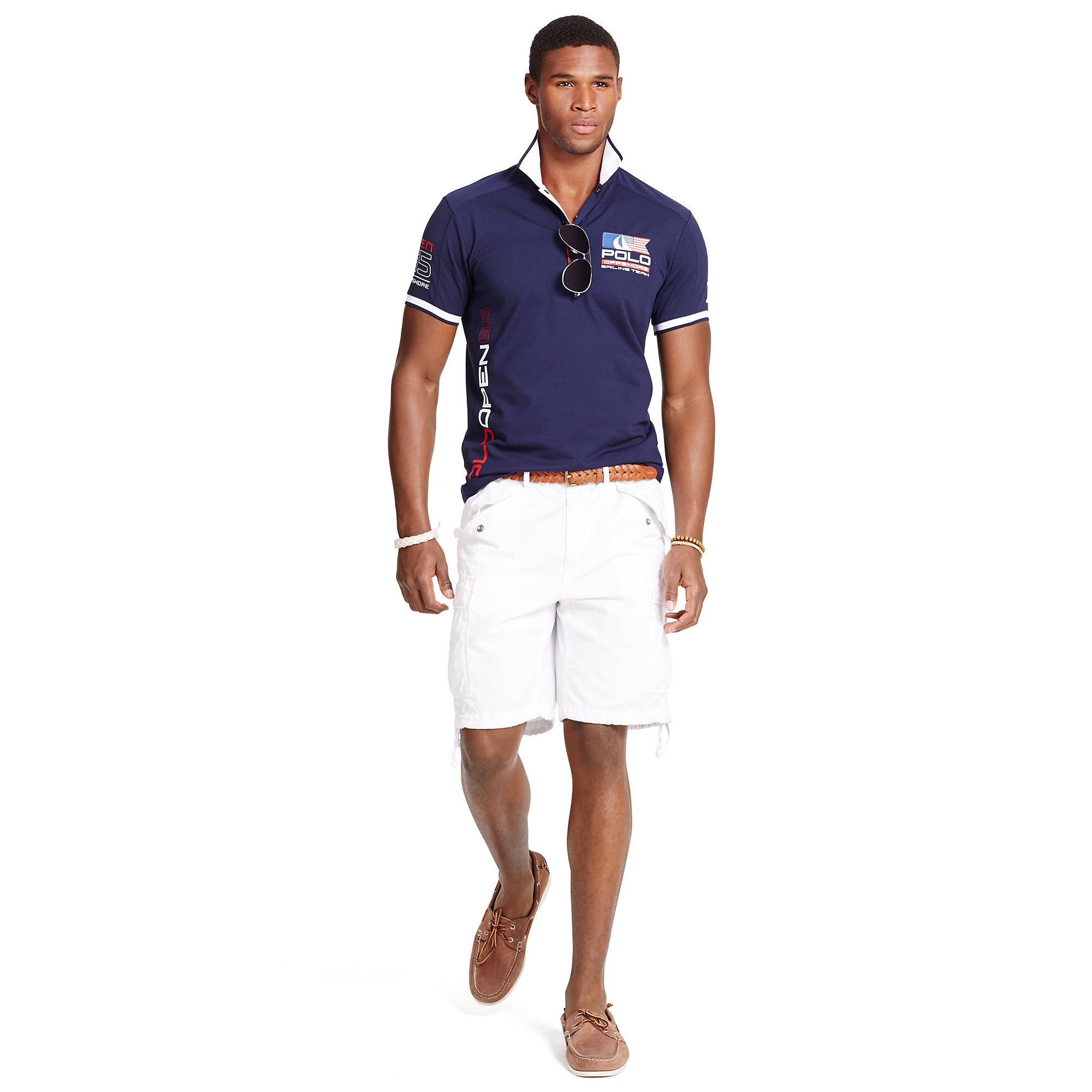 Lyst Polo Ralph Lauren Polo Open 65 Polo Shirt In Blue For Men