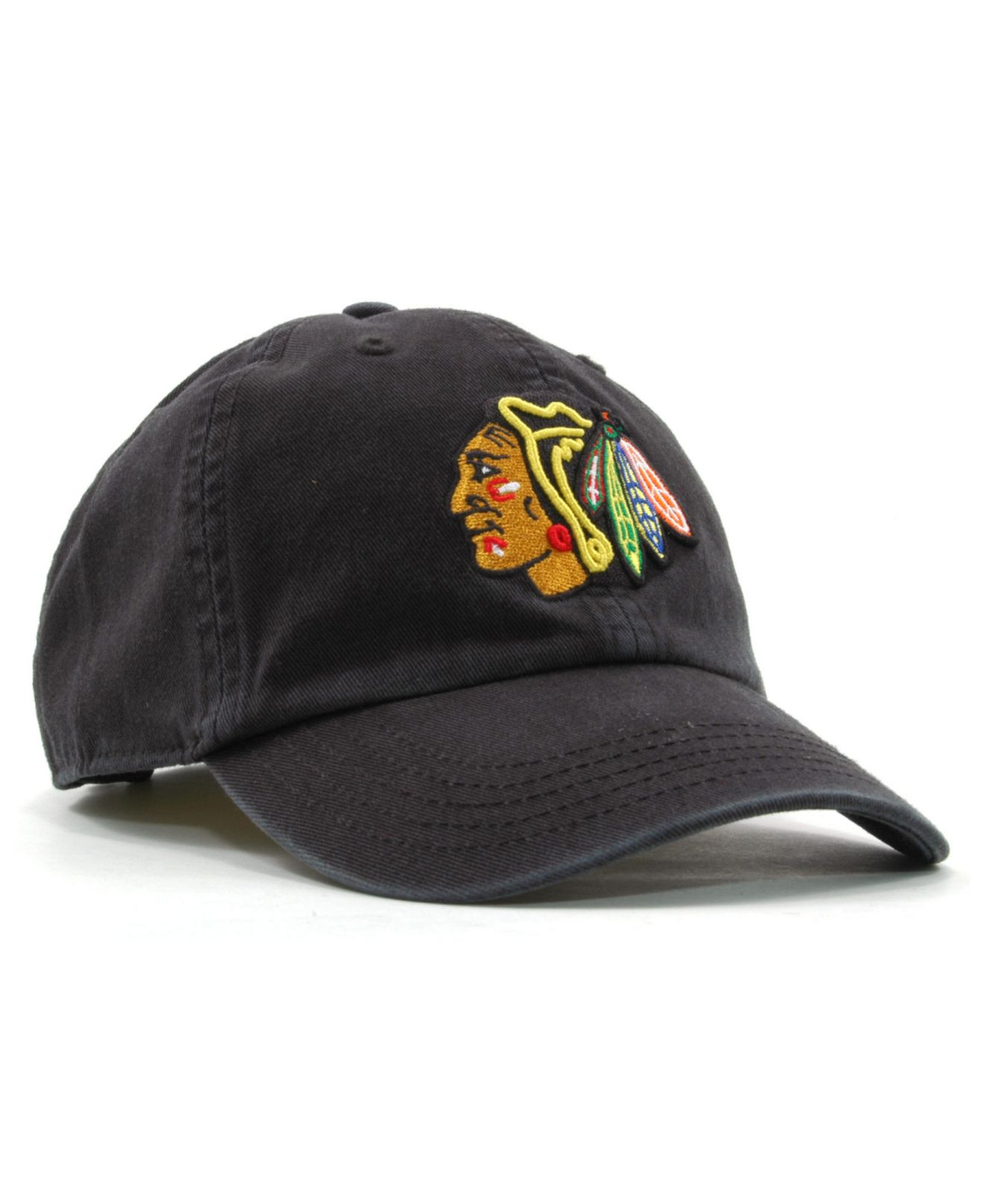 07e8473df Lyst 47 Brand Kids Chicago Blackhawks Clean Up Cap In Black For Men