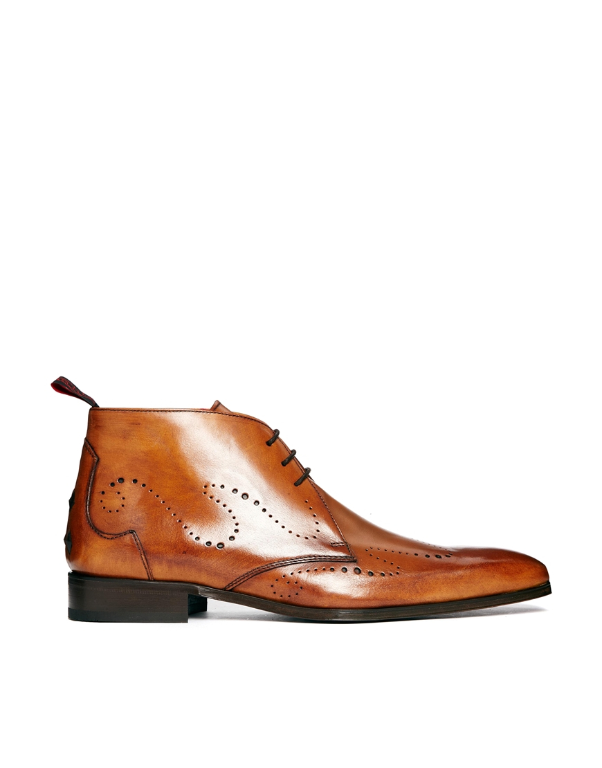 Jeffery west Punch Wingtip Chukka Boots in Brown for Men | Lyst