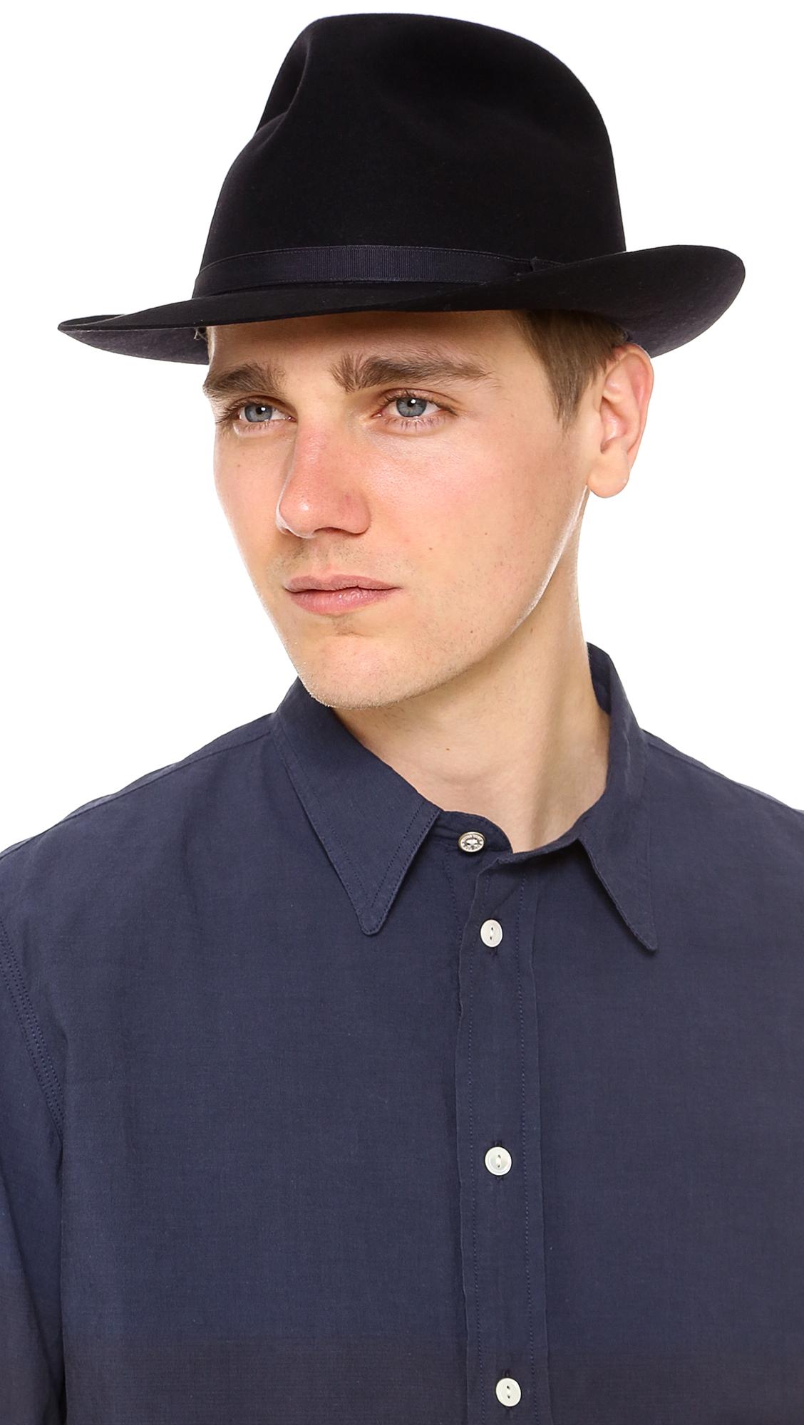 Lyst - Lock   Co. Voyager Felt Hat in Blue for Men 99fe0884614