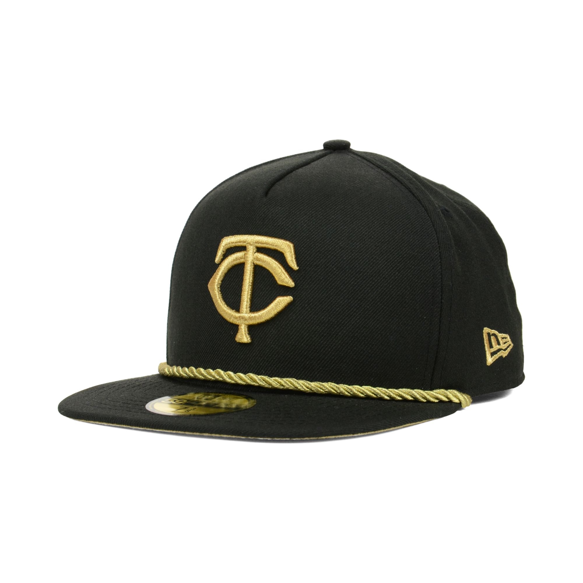 check out 5291b 2e90c ... cheap lyst ktz minnesota twins hall aframe 59fifty cap in black for men  6fe89 19a38