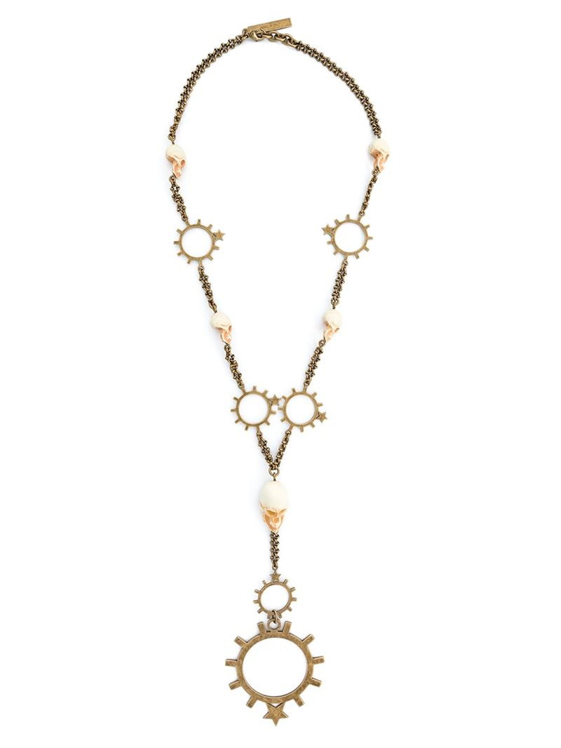 Givenchy Skull Rosary Necklace in Metallics Bsd6mSUbx
