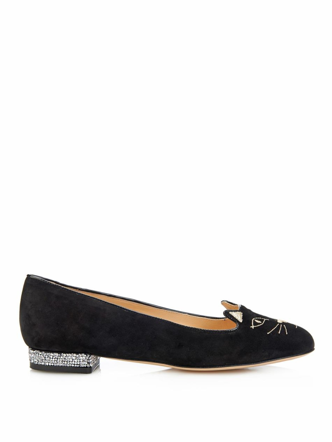 Charlotte Olympia Embellished leopard loafers vEsWuq