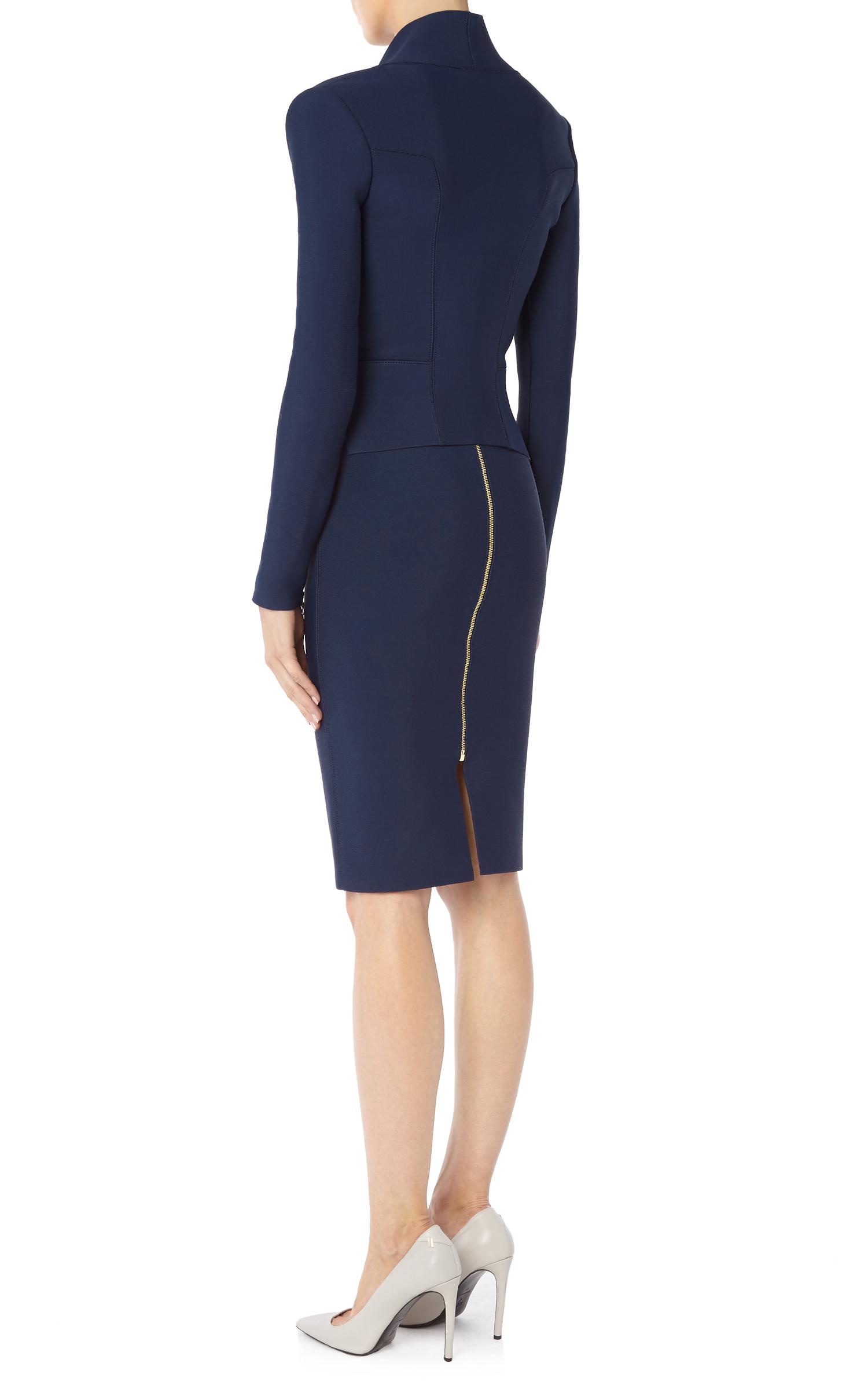 roland mouret pencil skirt in blue lyst