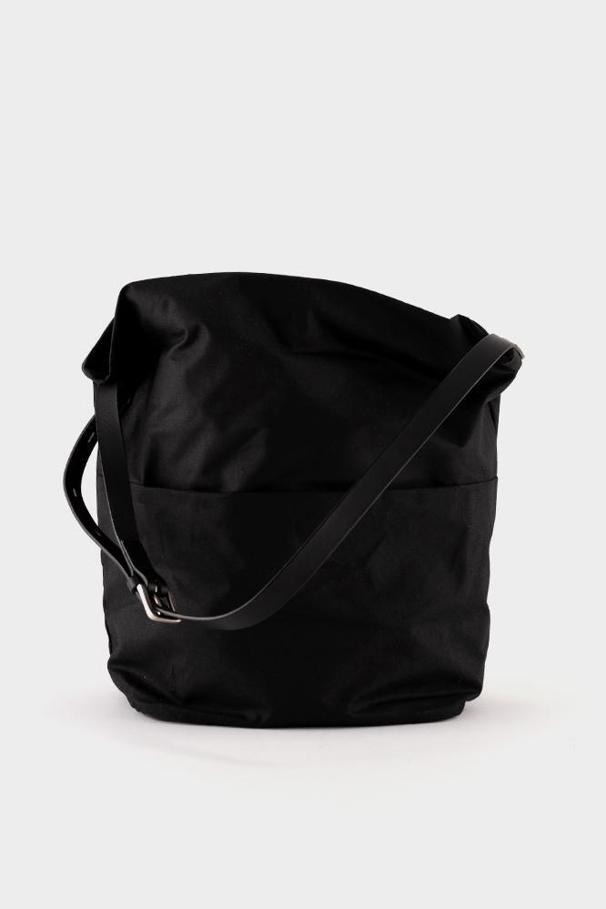 eeea388c3d57 Ally Capellino Lloyd Waxed Cotton Bucket Bag - Black in Black - Lyst