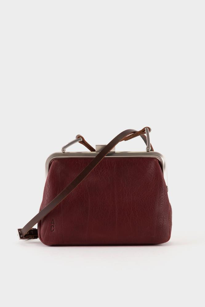 bf7d1c6ec2 Ally Capellino Fox Calvert Leather Frame Bag Small - Plum - Lyst