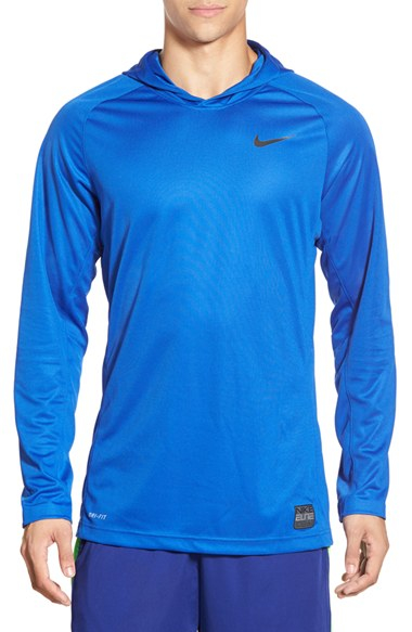 f43d1f5f6 Nike 'elite Shooter - Dri-fit' Long Sleeve Hooded Basketball Shirt ...