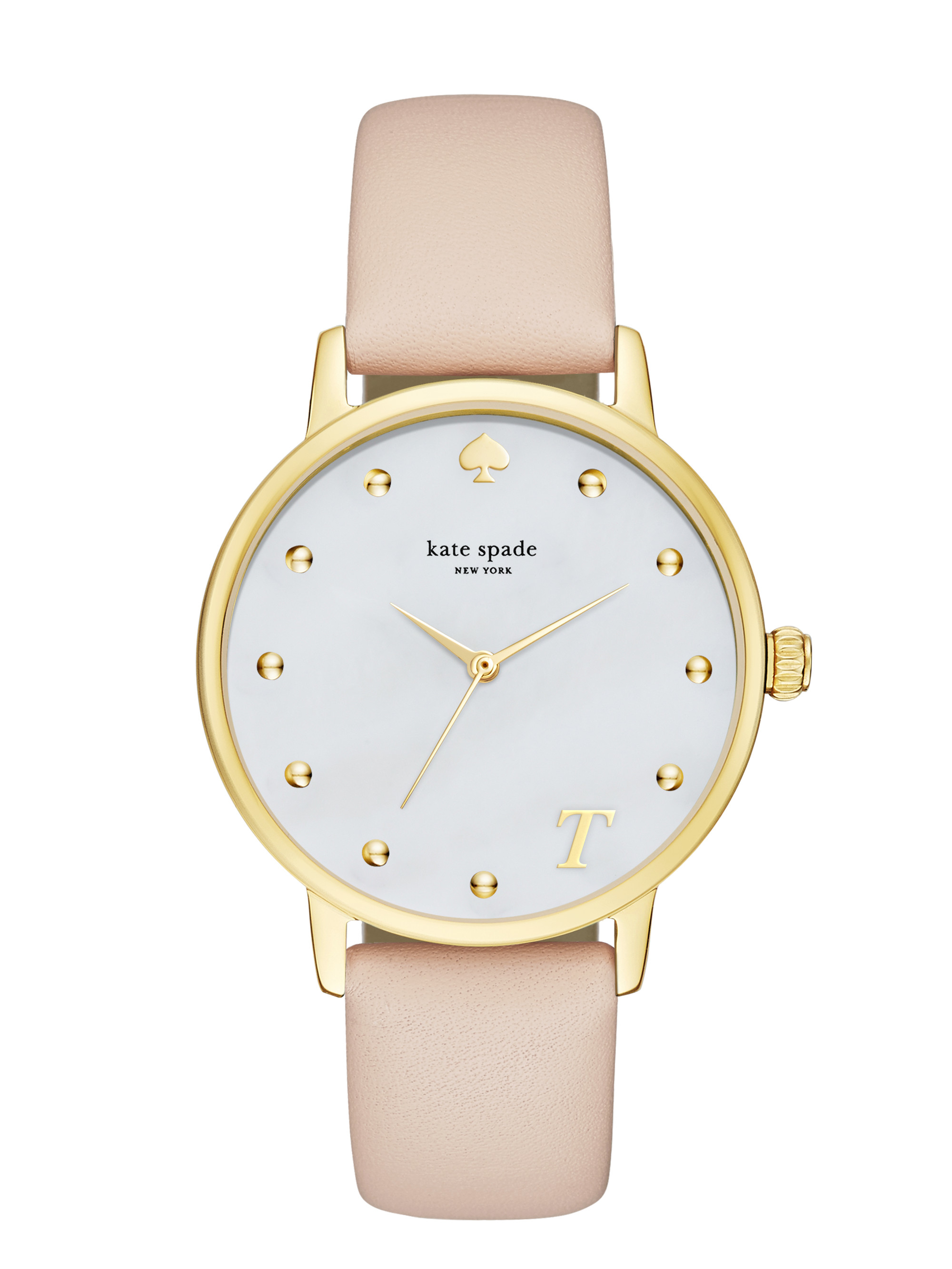kate spade new york monogram metro watch in natural lyst. Black Bedroom Furniture Sets. Home Design Ideas
