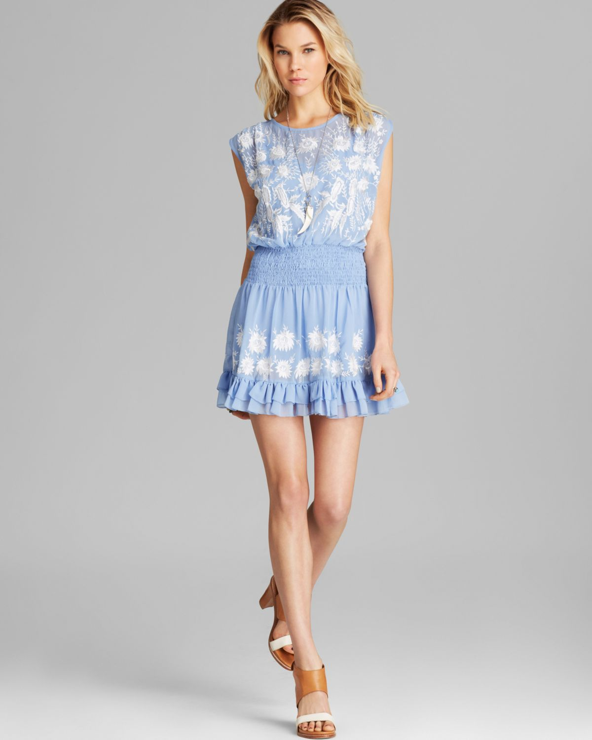 Free people Dress Garden Bloom in Blue | Lyst