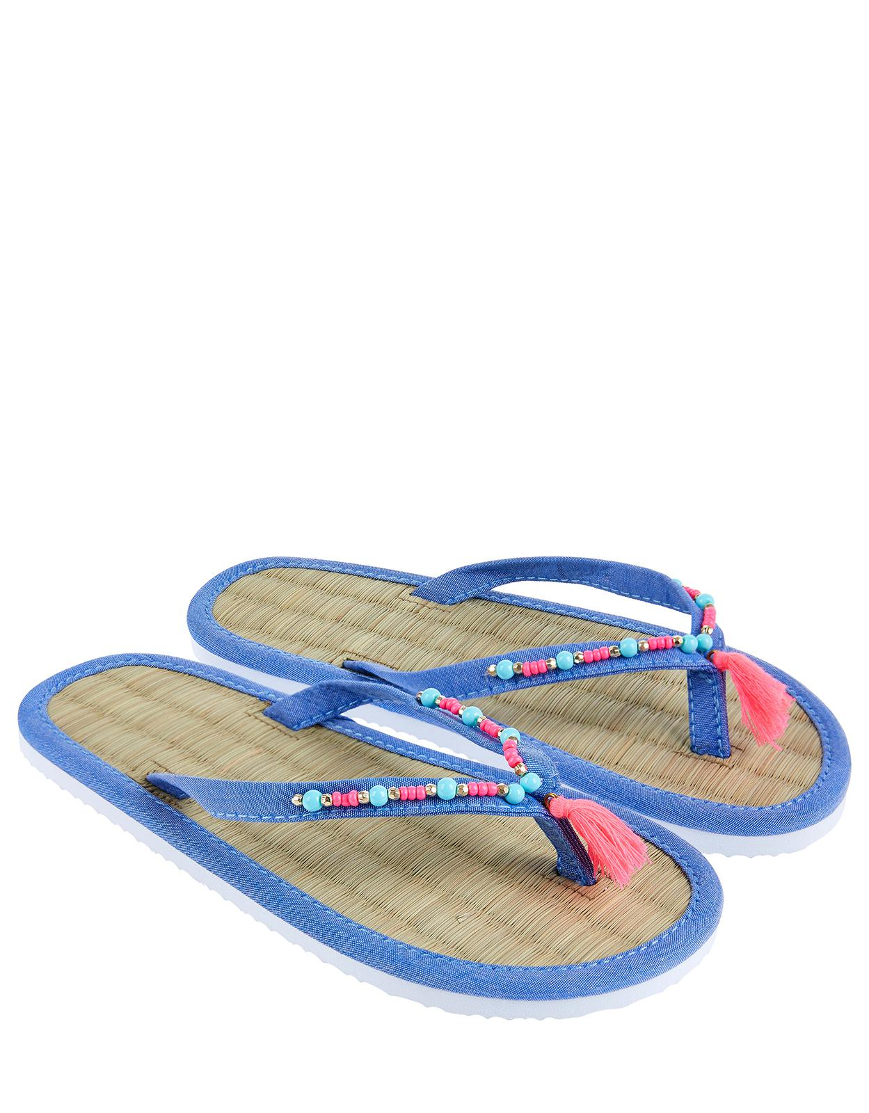104cad43f Accessorize Maya Seagrass Flip Flop in Blue - Lyst