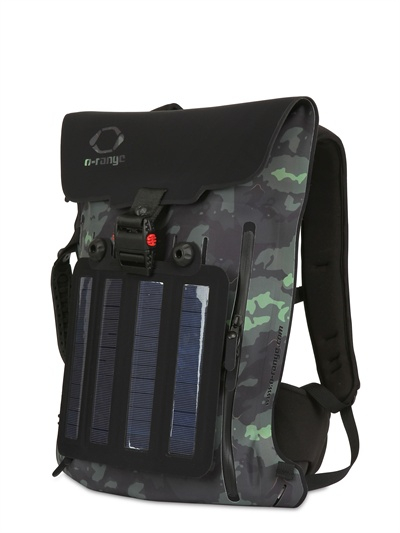 o range backpack with 45w solar panels in black for lyst