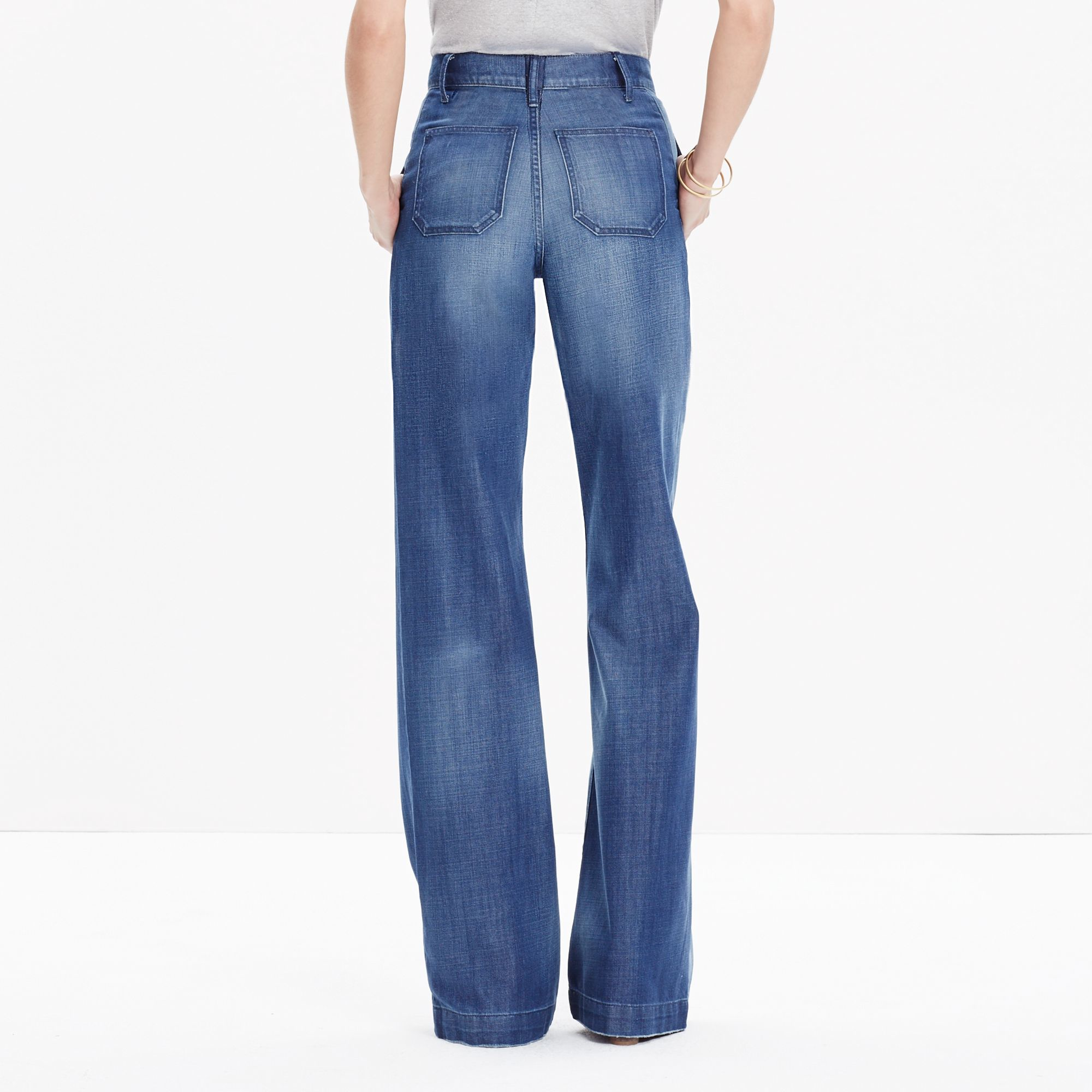 Lyst - Madewell Trouser Jeans in Blue