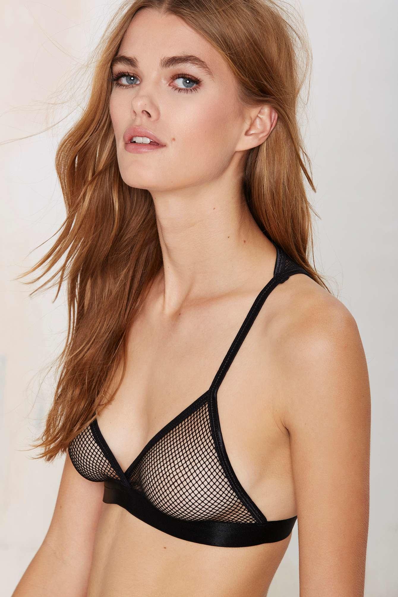 Lyst - Nasty Gal Net Your Girl Bralette In Black-3942