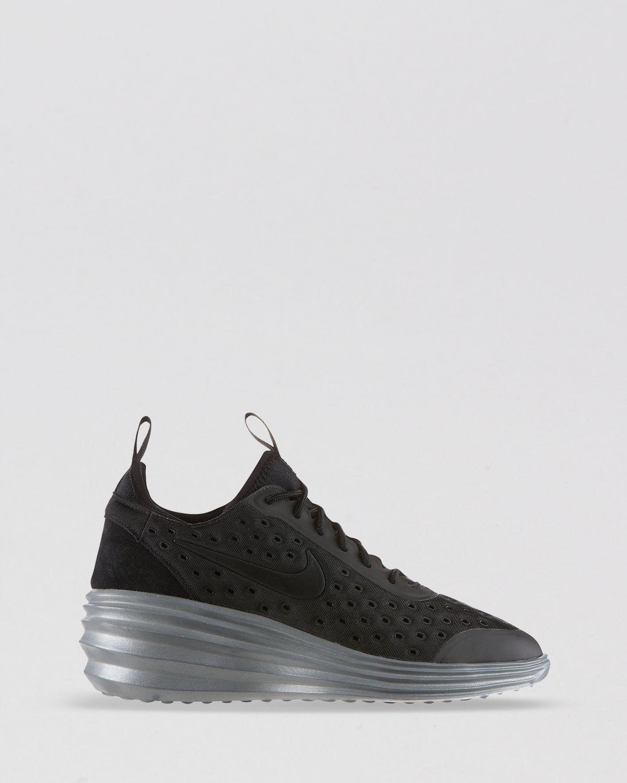 8bfa745e89e8 Lyst - Nike Lace Up Sneakers Womens Lunar Elite Sky Hi in Black